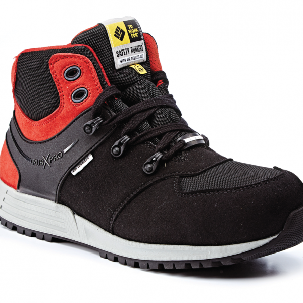 best website 897bb 7775c REBEL Black Red Safety Trainer Boot S3 SRC ESD – Gary for Boots